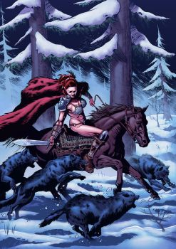 Red Sonja by Bobann - COLOR by Malkamok