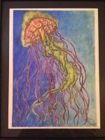 Jellyfish in watercolor  by artiststudio-us