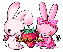 Chusagi and Strawberry Bunny by Kitsune-Petit