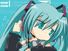Vocaloid - Miku_Lucky Star by Simpsons-Addict
