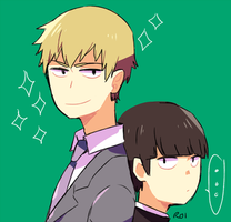 reigen+mob by Sandy-kun