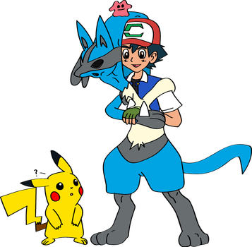 Ash Into Lucario with Sem 1 by TheSuitKeeper89