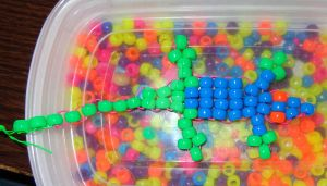 Bead Art: Bicolored Anole by SpellboundFox