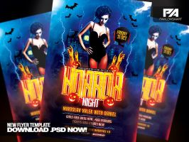 Horror Night Party - Halloween Flyer Template by pawlowskiart