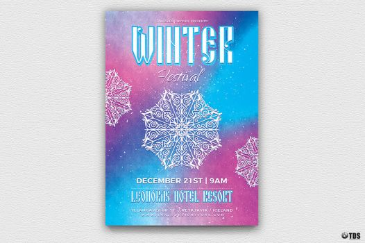 Winter Festival Flyer Template V1 by Thats-Design