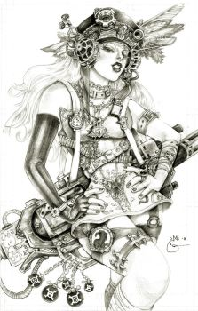Steampunk Lady Blackhawk Zinda Blake by DubuGomdori