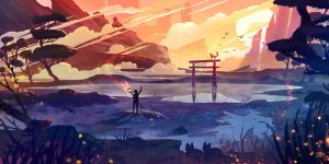 Torii Painting #1 by StephanieStutz