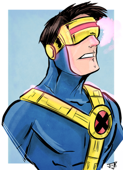Cyclops 90s Bust by Honez