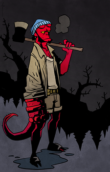 Hellboy Hipsters - 01 Hellboy by JoannaJohnen