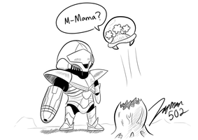 Chibitroid: Other Mother by ZapMan502