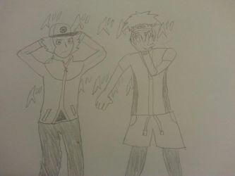 Hilbert and Nate's Bizarre Adventure by Manpersonguy