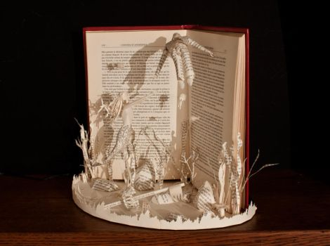 The Little Mermaid Book Sculpture 2 by KarineDiot