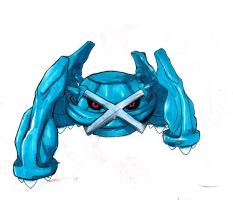 Pokemon Artwork 376: Metagross