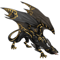 Gold Tribal Paint (Flight Rising Skin Commission) by Donaruie