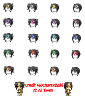 [Mixed Hair Pack] -insert cool name- Hair by MioChanDaisuki