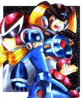 Megaman And Friends by policromatico