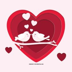Valentine's day vector graphics by Vectorportal