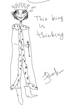 Thin King is thinking (that Sin King is sinking) by EugenBehm