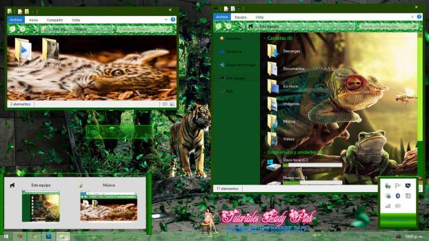 Tema selva by Anny Pink by TutosLadyPink