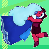 Ruby and Sapphire by MeiGoat