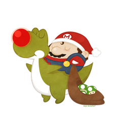 Mario Christmas by beyx