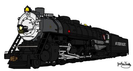 Southern Pacific GS-1 4401 by RailToonBronyFan3751
