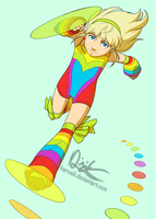 Here Comes the Rainbowgirl by Harseik