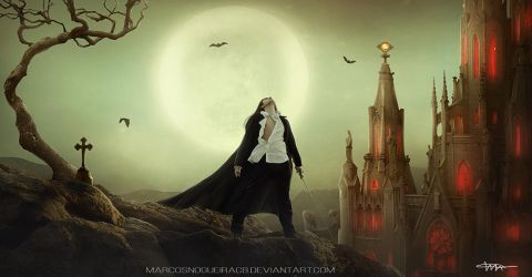 Dracula by CharllieeArts by marcosnogueiracb