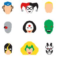 Suicide Squad Icons by mattmagargee