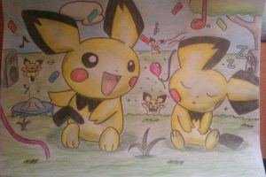 The Pichu Party XD 2 by Adripika