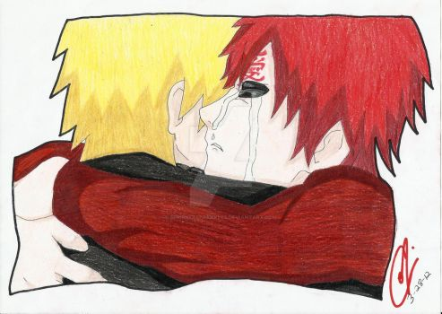 Gaara and Naruto Hug by SprinkleSprankles