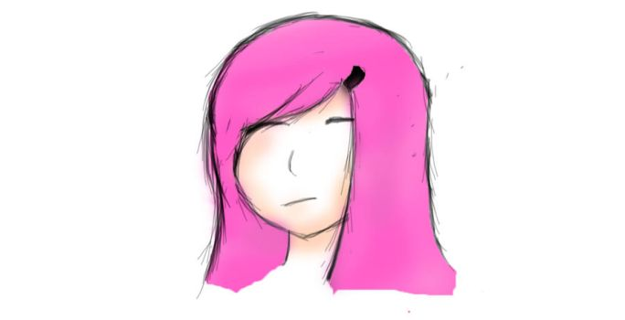 Girls Head colored by IceRazer666