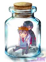 bottle meme Hibari x Tsuna by Shion-Tan