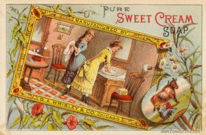 Victorian Advertising - Sweet Cream Soap by Yesterdays-Paper