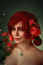 The Witcher - Flower portraits - Triss by MilliganVick