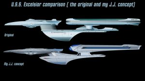 USS Excelsior comparison by Balsavor