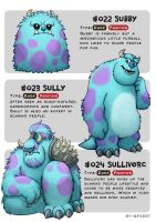 #022 Subby - #023 Sully - #024 Sullivorc by Ry-Spirit