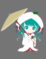 Snow Miku 2013 Minimalist Vector by sucker068