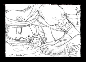 Sketchbook #63 - Bed of Roses by ElfBean