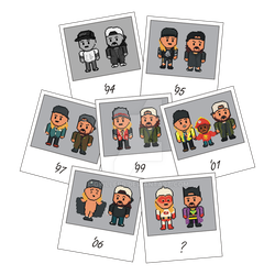 Jay and Silent Bob Snapshot Collage (Pixel Style) by gkillerb