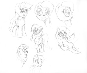 Mlp Fim Sketches 13 by HarmonicSoul