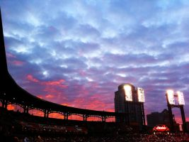 Busch Stadium Sunset by Saber-Cow