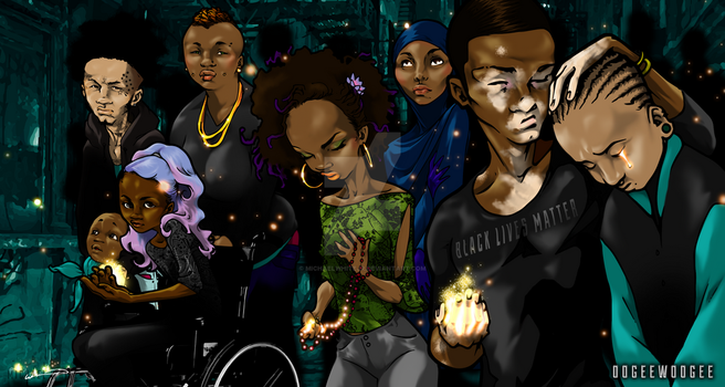 Our People Stand - Black Lives Matter 1 by michaelwhitejr