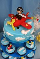Airplane Cake and Cupcakes by Verusca
