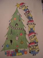 Santa's Little Minions by iliketodoodle