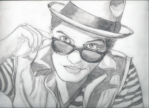 Bruno Mars by KandaceCanDraw