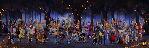 Nuzlocke Halloween Collab by Krisantyne