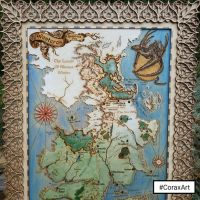 Game of the Thrones Map,Westeros Map by CoraxArt