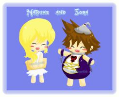 Sora and Namine by AnimeLover536