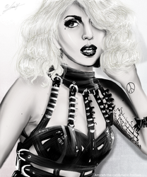 Lady Gaga Digital Painting by Art-by-Ling